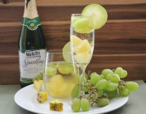 Sparkling White Grape and Pineapple Spritzer
